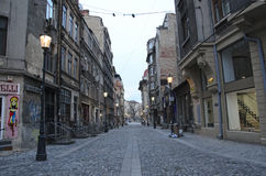 Bucharest - old town street Royalty Free Stock Photo