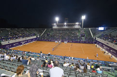 Bucharest Open 2014 - 10.07.2014(11). Image from the central arena of BNR Arenas, during the tennis match between Roberta Vinci(Italia) and Silvia Soler-Espinosa Royalty Free Stock Photos
