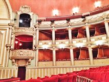 Bucharest Opera House. Concert Hall and loges at Bucharest Opera House Royalty Free Stock Photos