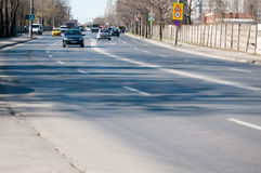 Bucharest outskirts street Royalty Free Stock Photography