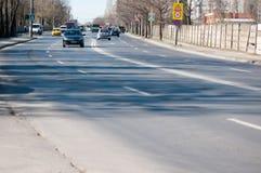 Bucharest outskirts street Royalty Free Stock Photography