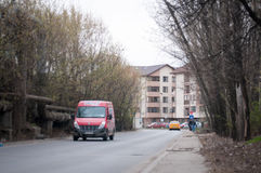 Bucharest outskirts street Royalty Free Stock Photos