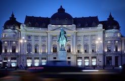 Bucharest på natten Arkivfoto
