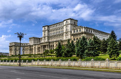 Bucharest, Palace of Parliament, Romania. The Palace of the Parliament, the second largest building in the world, built by dictator Ceausescu in Bucharest stock photo