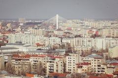 Bucharest panorama Fotografia Royalty Free