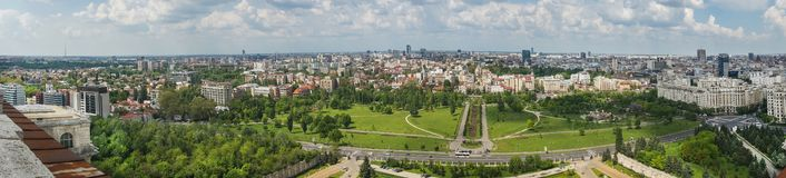Bucharest panorama Royaltyfria Bilder