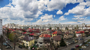 Bucharest panorama from above Stock Photos