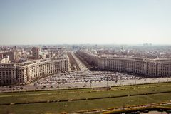 Bucharest panorama. Central Bucharest, Romania, seen from above Stock Photography