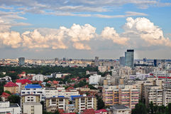 Bucharest panoramic view Royalty Free Stock Photos