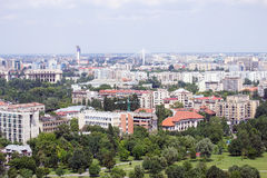 Bucharest panoramic aerial view Stock Photos