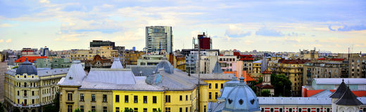 Bucharest panoramic view from downtown Royalty Free Stock Photography