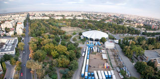 Bucharest-panoramische Ansicht Stockfoto