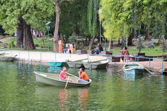 Bucharest Park Royalty Free Stock Photos