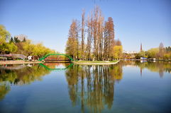 Bucharest Park. Alexandru Ioan Cuza park in Bucharest Royalty Free Stock Photo