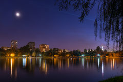 Bucharest park at blue hour Stock Photography