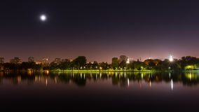 Bucharest park at night Royalty Free Stock Photography