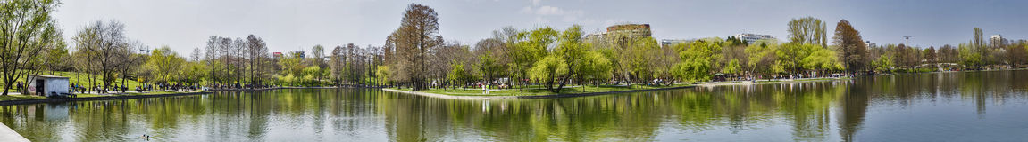 Bucharest park panoramic view stock photos
