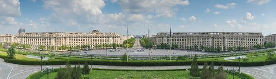 Bucharest parlamentfyrkant Royaltyfri Bild