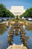 Bucharest - parlamentslott Arkivfoton