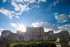 Bucharest - parlamentslott Arkivfoto