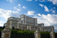 Bucharest - parlamentslott arkivbilder