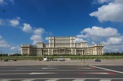 Bucharest parlamentslott Arkivbild