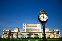 Bucharest - Parlamentspalast Stockfotografie