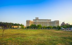 Bucharest Parliament building or People`s Palace. Romania stock images