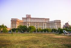 Bucharest Parliament building or People`s Palace. Romania royalty free stock image