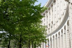 Bucharest Parliament Building in Romania. In the summer time stock photography