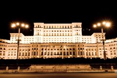 Bucharest Parliament palace Royalty Free Stock Image