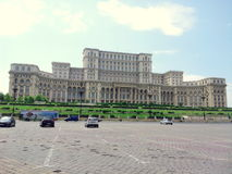 Bucharest - Parliament palace. Picture taken in Bucharest,Romania Stock Photos