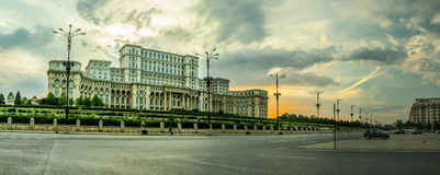 Bucharest -- Parliament Palace Royalty Free Stock Photos