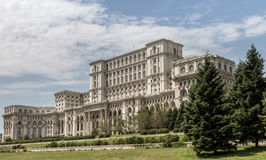 Bucharest Parliament. Bucharest, Romania - May 23, 2014: Parliament building in Bucharest, Romania, cited as the largest civilian administration building in the royalty free stock photos