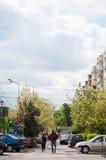 Bucharest pedestrian walkway Royalty Free Stock Photos