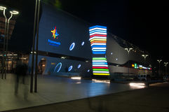 Bucharest promenada mall by night. View of promenada mall bucharest Stock Photography