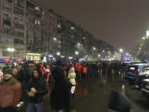 Bucharest protest Fotografering för Bildbyråer