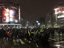 Bucharest protest Royaltyfri Foto
