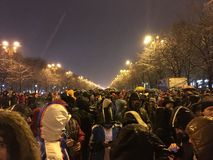Bucharest protest Royaltyfria Foton