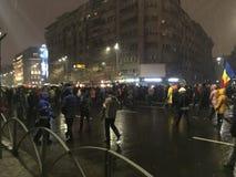 Bucharest protest Royaltyfria Bilder