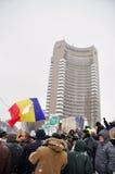 Bucharest protest - 15th dag 11 Royaltyfri Foto