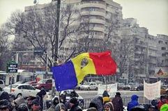 Bucharest protest - 15th dag 3 Royaltyfri Foto