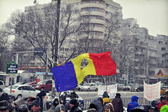 Bucharest Protest - 15th day 3 Royalty Free Stock Photo