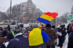 Bucharest Protest - 15th day 7 Royalty Free Stock Images
