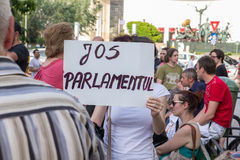 Bucharest protest Obrazy Royalty Free