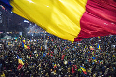 Bucharest protest against the government Royalty Free Stock Photography