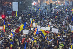 Bucharest protest against the government Royalty Free Stock Images