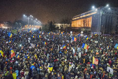 Bucharest protest against the government Royalty Free Stock Photos