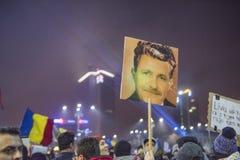 Bucharest protest mot regeringen Arkivfoto