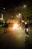 Bucharest protest mot regeringen royaltyfri fotografi